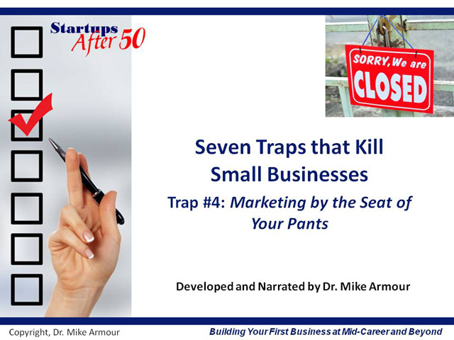 Video Title Slide: Marketing By the Seat of Your Pants